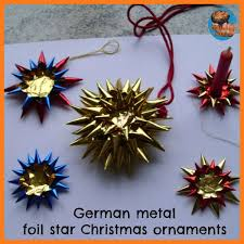 german metal foil ornaments glittering muffins