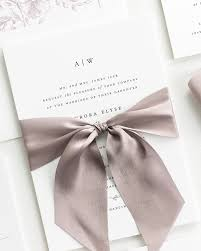 ribbon wedding invitations ribbon wedding invitations by