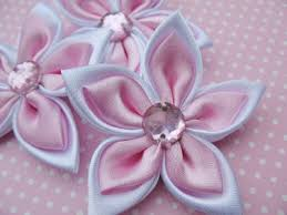 ribbon flowers 20 satin 2 ribbon flower pink r001 yycraft store