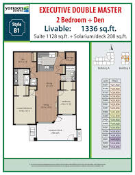 double master bedroom floor plans 2 bedroom den plans yorkson downs