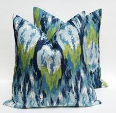 24x24 Decorative Pillows Decorative Throw Pillows Throw Pillow Covers One 24x24 Blue Green