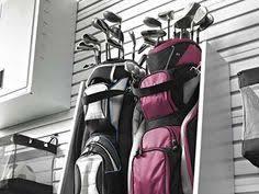 Garage Golf Bag Organizer - monkey bar storage hanger garage wall organizer six golf bag clubs