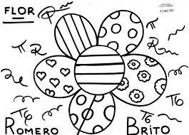 britto para colorear flor romero brito risco desenho 255b3 255d jpg mano alidades