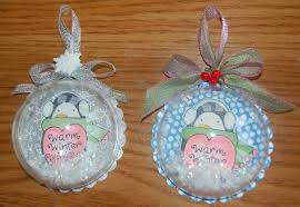 s craft snow globe shaker ornament tag