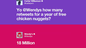 wendys thanksgiving hours teen who asked wendy u0027s for nuggets breaks all time retweet record