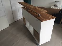 Kitchen Island Ikea Hack by Ikea Hack Kitchen Island Breakfast Bar Kallax On Heavy Duty