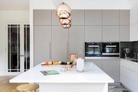 Modern Kitchen Decor A Modern Kitchen Decor With Copper Lamps And Nordic Details