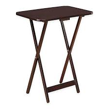 Folding Oversized Wood Tray Table In Espresso Bed Bath Beyond