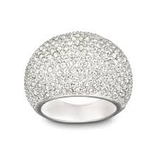 crystal pave rings images Swarovski stone rhodium plated clear crystal pave ring 1156314 jpg