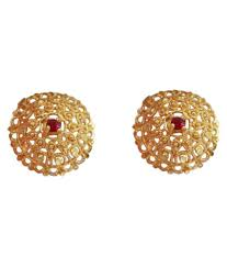 designer stud earrings ssj indian traditional gold plated designer stud earring 601