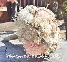 Fall Flowers For Wedding Blush Champagne Sola Wedding Bouquetfall Bouquetssola