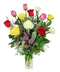 Multi Colored Roses Multi Color Dozen Roses Zeidler U0027s Flowers