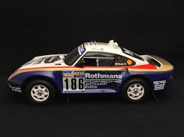 porsche 959 rally car porsche 959 dakar 1986 n 186 1 18 truescale tsm121807r selection rs