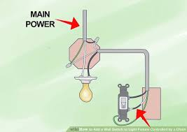How To Switch Out A Light Fixture How To Add A Wall Switch To Light Fixture Controlled By A Chain