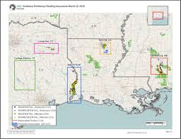 nga provides flood and damage assessments of louisiana and
