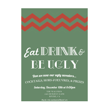 tasty christmas party invitation templates features party dress