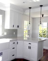 Black White Kitchen White Kitchen Cabinets With Black Handles Outofhome