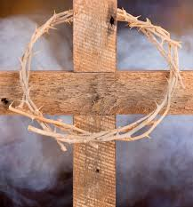 wooden cross and crown of thorns stock image image of jesus