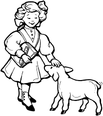 free printable coloring page mother goose nursery rhymes mary