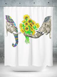 elephant love shower curtain u2013 electro threads