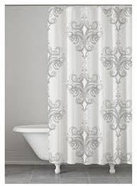 Kassatex Shower Curtain Kassatex Rifiki Shower Curtain Grey 72 X72 Gray And Products