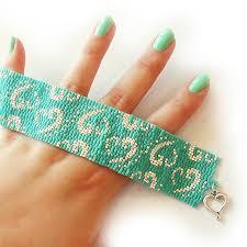 beaded heart bracelet images Turquoise blue and silver glass beads bracelet dicope heart logo jpg