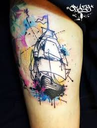 watercolor compass and sailboat chip harbin safehouse tattoo