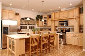 maple cabinets kitchen home interior design living room