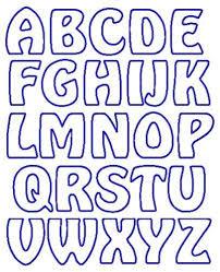 printable alphabet stencils applique letter templates free google search letters pinterest