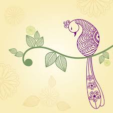 indian turkey ornament vector free