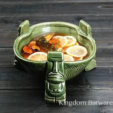 punch bowl ceramic punch bowl waikiki bowl tiki bowl in mugs from home