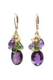 sweet earrings melinda lawton jewelry amethyst peridot earrings from