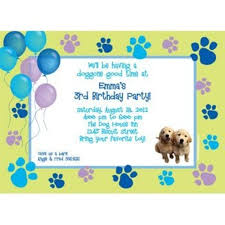puppy party supplies puppy party personalized invitation personalized custom
