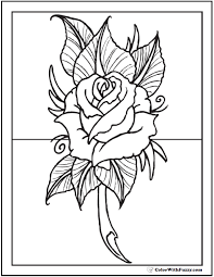 coloring pages with roses 73 rose coloring pages customize pdf printables
