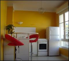 deco interieur cuisine déco cuisine jaune et orange decoration guide