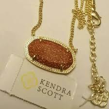 gold stone necklace images Kendra scott jewelry dylan goldstone necklace poshmark jpg