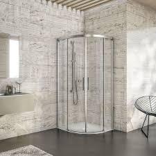 Curved Shower Bath Astonishing Curved Bathroom Shower Corner Glass Doors Design