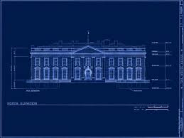 Blue Print Of A House Front Pages White House Museum