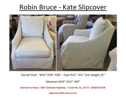 Swivel Cuddle Chair by Robin Bruce Kate Slipcover Swivel Chair You Choose The Fabric