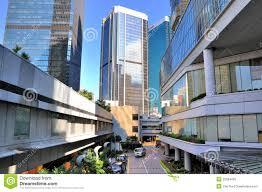 hongkong street among modern buildings editorial image image