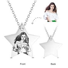 Personalized Photo Pendant Necklace Color Photo Picture Silver Necklaces U2013 Yafeini Personalized Jewelry