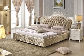 Brown Bedroom Furniture Bedroom Furniture King Size Fabric Bed Brown Color Made In China