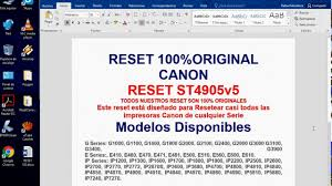 software resetter ip1900 reset canon st4905 g1100 g2100 g2400 g2900 g3100 3400 3900 al