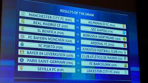 champions league round of 16 draw bayern v arsenal paris v