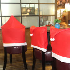 Christmas Chair Back Covers 4pcs Christmas Chair Decoration Back Cover Set Decor New Year