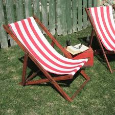 1930s 40s sling back deck chair lawn chair beach chair by