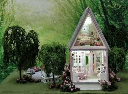 Shabby Chic Dollhouse by Handcrafted Quarter Scale Willow Cottage A Shabby Chic Cottage At
