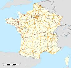 Spain France Map by Autoroutes Of France Wikipedia