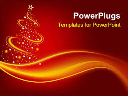 powerpoint template christmas theme with abstract christmas three