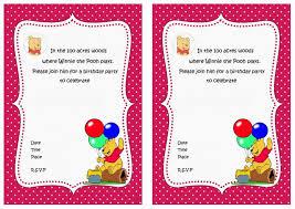 colors exquisite winnie pooh birthday invitations templates